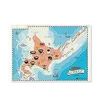 東京カートグラフィク クリアファイル 名産品編1 北海道地方