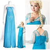 コスプレ アナと雪の女王 エルサ 風 ドレス コスチューム XLサイズ