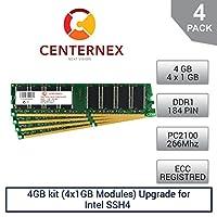 4GBキット( 4x 1gbモジュール) Ramメモリforインテルssh4( pc2100Reg )サーバーメモリ&ワークステーションメモリアップグレードby US Seller