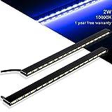 GreenClick led デイライト 防水 ホワイト 12V IPX7防水 強力発光 ledライト 極薄型5mm  2本セット