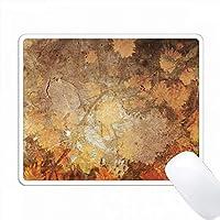 秋の葉と花Imprint Textures PC Mouse Pad パソコン マウスパッド