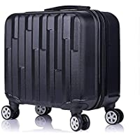 """Fashion 18"""" Travel Luggage Suitcase Spinner Wheels Boarding Case Trolley Suitcase Wheeled Travel Rolling Luggage Suitcase LGX32 (Color : Black)"""