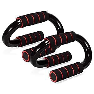 プッシュアップバー Mersuii 腕立て伏せ トレーニング 筋トレ 肉体改造 ダイエット 鋼管 金属製S型 2個組 (S形)