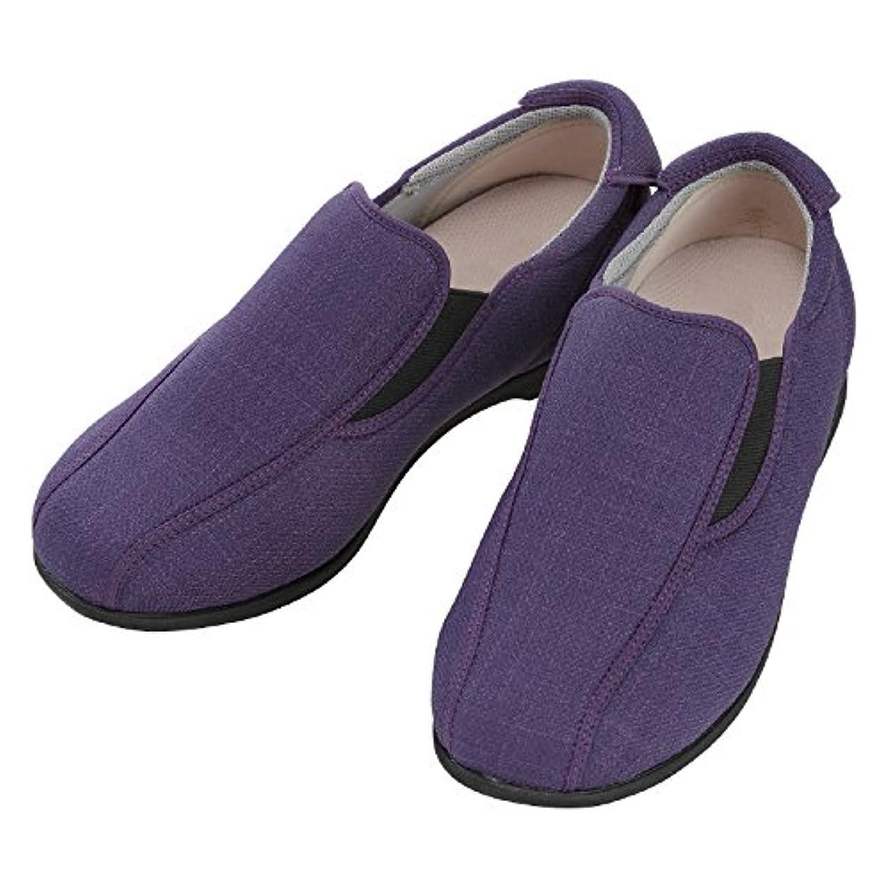施設用 あゆみ モカスリップオン 紫 サイズ:3L(25.0-25.5cm) 1132 左右セット