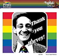 """NSI - Thank You Harvey Rainbow Gay Pride Sticker Decal - 5.5""""x4.25"""" - Weather Resistant, Long Lasting for Any Surface"""