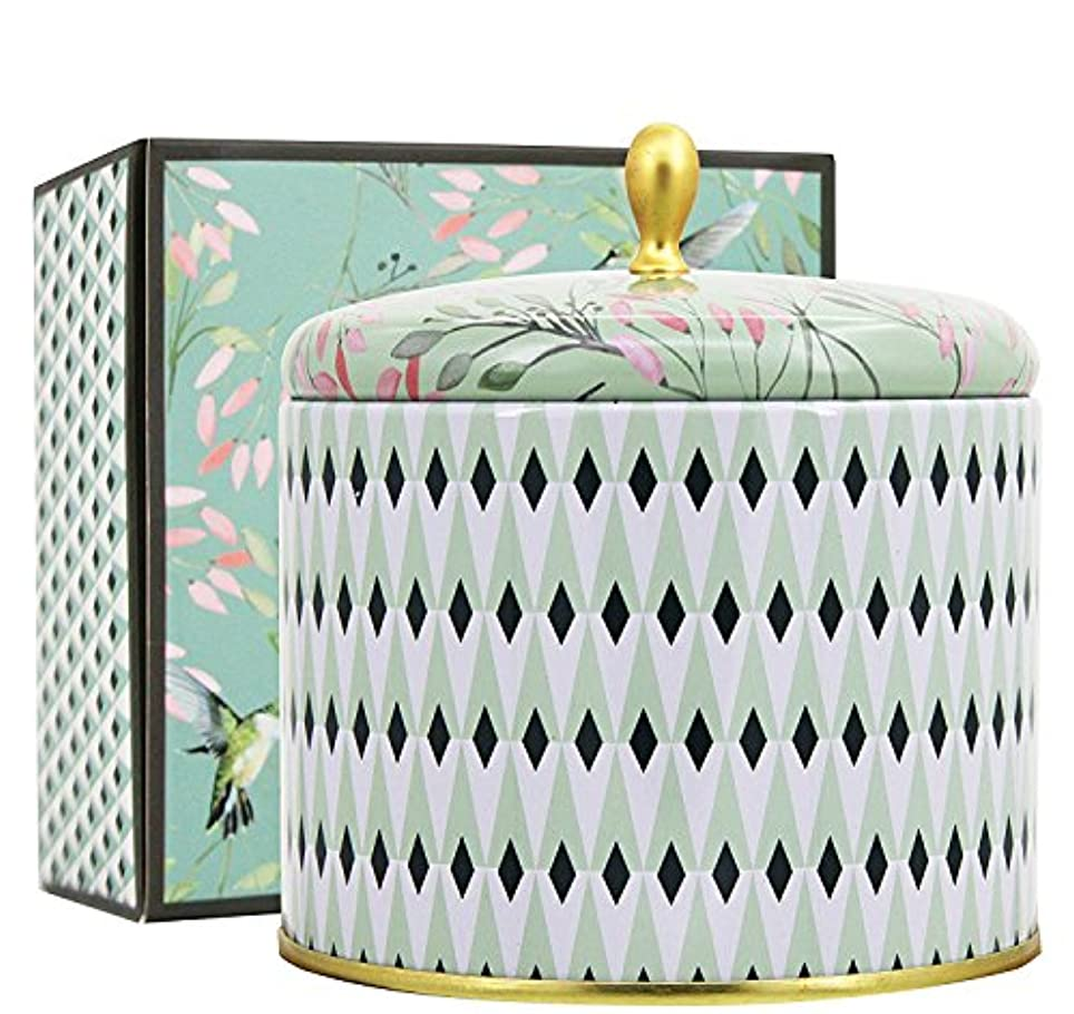 に話すペルー精算(White Tea Candle) - Scented Candles 410ml White Tea Large Tin Aromatherapy Candle 2 Wicks Natural Wax, Valentine's...
