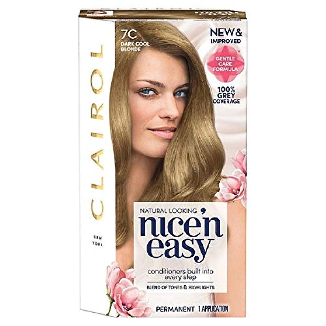 オーバーコート寛容なポテト[Nice'n Easy] クレイロール素敵な「N簡単ダーククールなブロンド7Cの染毛剤 - Clairol Nice 'N Easy Dark Cool Blonde 7C Hair Dye [並行輸入品]