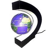 グライクス 大人のインテリア 宙に浮いている不思議な地球儀 世界地図 (ブルー)