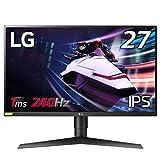 LG ゲーミングモニター 27GN750-B 27インチ/フルHD/IPS/240Hz/1ms(GtoG)/G-SYNC Compatible/HDR/HDMI×2,DP/ピボット,高さ調節