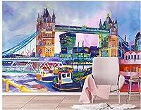 Bzbhart 3Dの 壁紙水彩画の有名な建築家の装飾のリビングルームの 壁の壁画の壁紙-250cmx175cm