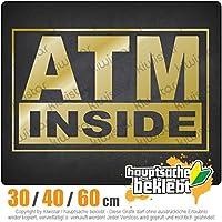 ATM inside - 3つのサイズで利用できます 15色 - ネオン+クロム! ステッカービニールオートバイ