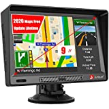 GPS Navigation for Car, 9 inch Car Truk GPS with Sunshade HD Touch Screen 8GB 256MB Sat Nav for Cars with USA, Canada, Mexico Lifetime Map Free Update