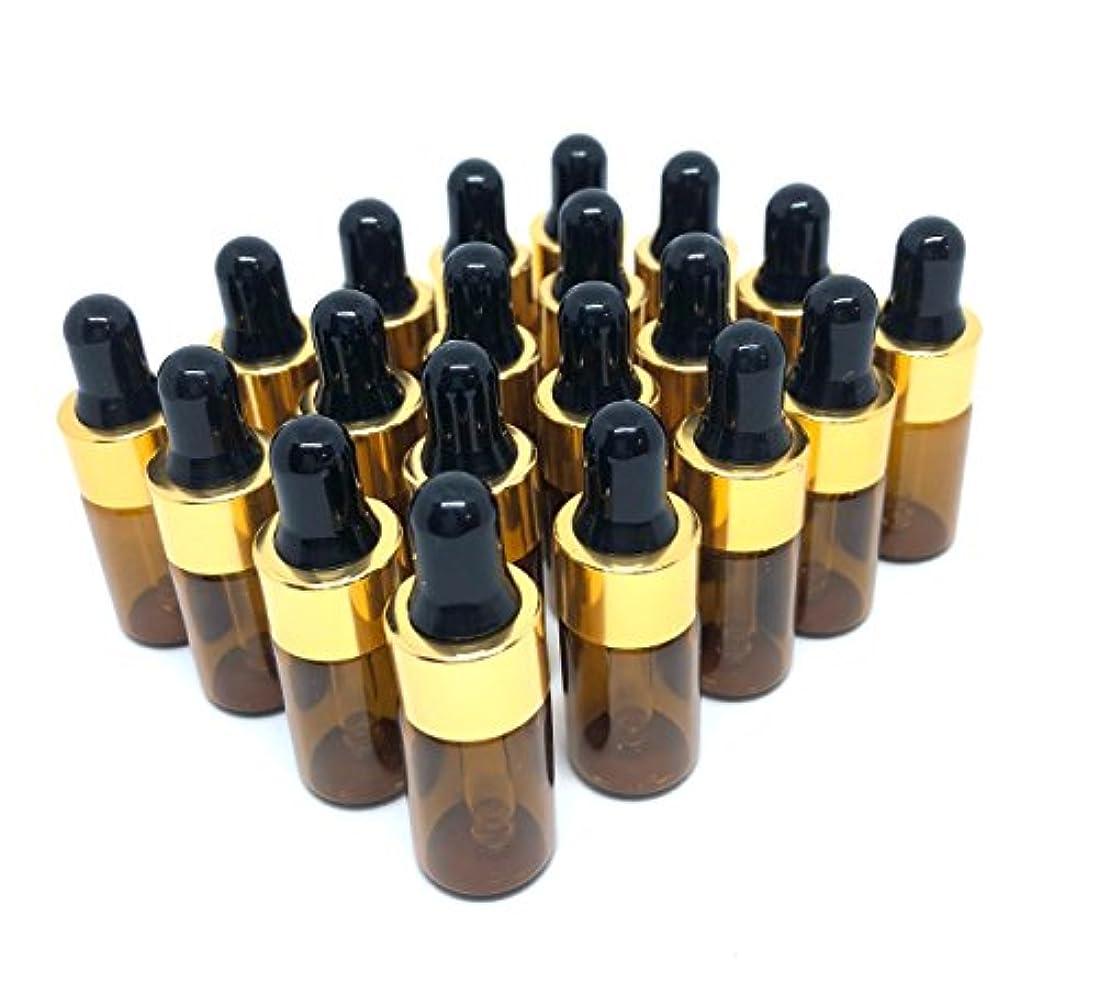 貼り直すおもてなし遺伝的スポイト 遮光瓶 アロマオイル 精油 小分け用 ガラス製 保存容器 20本 セット (3ml)
