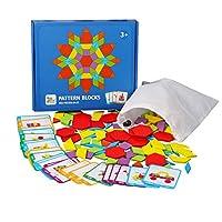 Ourine ジグソーパズル 積み木 パズル タングラム 教育おもちゃ 子供 木のおもちゃ ブロック パターンブロック 木製 はめこみ形合わせ 知育パズル 知育玩具 クリエイティブ 幾何認知 色彩認識 創造力 想像力 知恵の板 組み合わせ プレゼント 贈り物