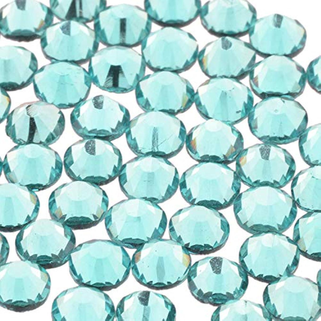 ビタミン矢印人工的なスワロフスキー代用 改良 高品質ガラスストーン AQUA CRYSTAL SS16 SS12 SS10 SS8 SS6 SS4 SS3 (SS16/60粒, 09.アクアマリン-4)