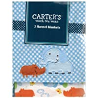 Carter's Watch the Wear - 2 Flannel Blanket Set - Elephant/Rino by Carter????????s Watch the Wear [並行輸入品]