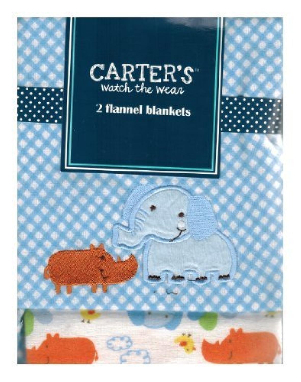 Carter's Watch the Wear - 2 Flannel Blanket Set - Elephant/Rino by Carter????????s Watch the Wear [並行輸入品]