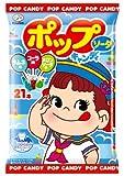 不二家 ポップキャンディ袋ソーダ 21本×6袋