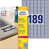 Avery Silver Heavy Duty Labels for Laser Printers, Water-Resistant, 45.7 x 21.2 mm, 960 Labels (959201 / L6009)
