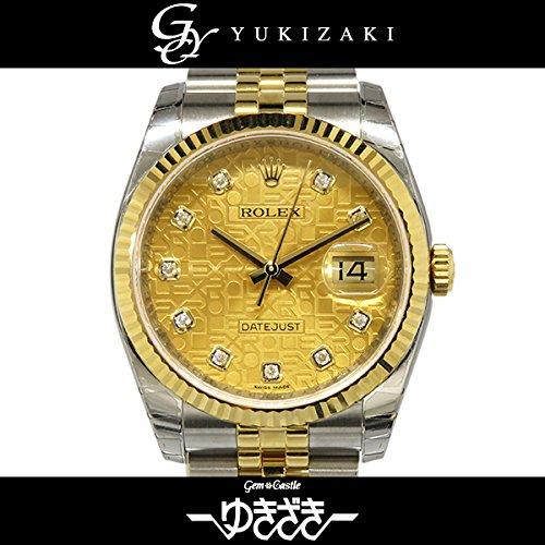 ロレックス デイトジャスト 116233G シャンパンコンピューター メンズ 腕時計 [並行輸入品]