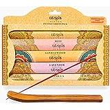 Karma Scents Premium Incense Sticks, Lavender, Sandalwood, Jasmine, Rose, Vanilla, Variety Gift Pack 85 Sticks, Includes a Ho