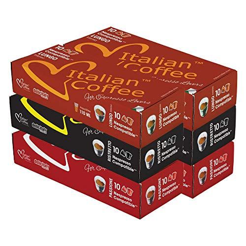 カプセル 互換 イタリアン コーヒー 珈琲豆 珈琲 エスプレッソポッド アソートセット, 60カプセル