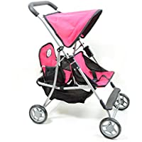 [ニューヨークドールコレクション]The New York Doll Collection My First Doll Twin Stroller in Pink Cutest Doll Twins Stroller Great Toy Gift [並行輸入品]