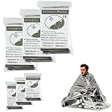 Emergency Thermal Blankets, Survival Reflective Thermal First Aid Foil Blanket (Silver)