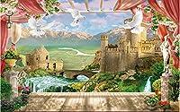 Bzbhart 3D壁画の壁紙シルク壁画ハトバルコニーヴィラ装飾絵画 壁壁画壁紙用壁-250cmx175cm