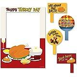 Thanksgiving Turkey – 感謝祭写真ブース画像フレーム& Props – 頑丈にプリントプラスチック材質