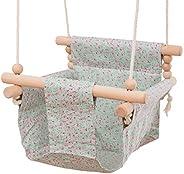 let's make 吊床椅 嬰兒 座椅 安全帆布 室內外通用 吊床 吊床 吊床 防掉落 折疊式 新生兒 生日 禮物 玩具工具 幼兒用 適合0-3歲