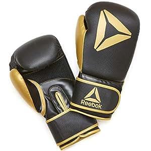 【Amazon.co.jp 限定】リーボック(Reebok) ボクシンググローブ 【 ゴールド/ブラック】 12オンス TKS91RB005 12 oz