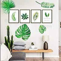 RAIN QUEEN ウォールステッカー 葉 植物 壁紙 リメイクシート 壁飾り wall sticker インテリア グリーン ウォールステッカー