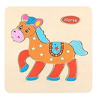 HKDGID HOT! スマートキッズ - 幼児用木製パズル - ベビーパズル 3歳以上 - 就学前学習教育玩具 - 男の子と女の子用パズル - クリスマスギフト (漫画の動物)