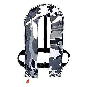 DABADA(ダバダ) ライフジャケット インフレータブル ベストタイプ 膨張式 救命胴衣 男女兼用 フリーサイズ (首かけ自動膨張式迷彩B)