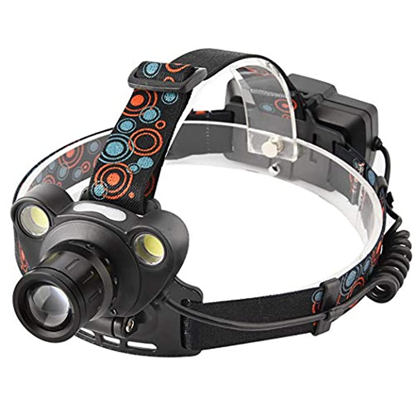 マイクロプロセッサ飲料願望HSBAIS LED ヘッドライト、センサー ズーム機能 防水 高輝度 ヘッドランプ ヘルメットライト USB 充電式、警告赤色ライトが,black