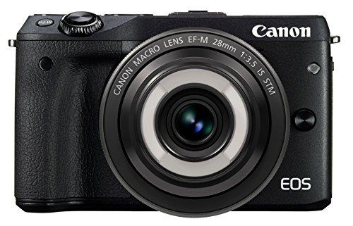 Canon ミラーレス一眼カメラ EOS M3(ブラック)・クリエイティブマクロ レンズキット EF-M28mm F3.5 IS STM付属 EOSM3BK-CMLK