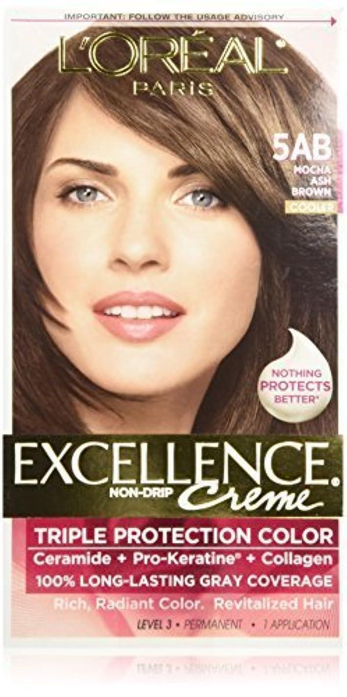 アクセルシールド定規Excellence Mocha Ash Brown by L'Oreal Paris Hair Color [並行輸入品]