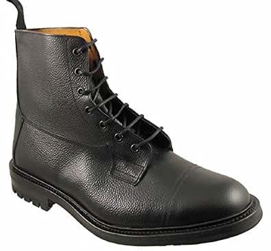 Tricker's(トリッカーズ) ブラック レザー Grasmere ワークブーツ 12(30-30.5cm) [並行輸入品]