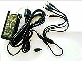 BANGWEIER 12V 5A 汎用ACアダプター+LEDテープライト専用DCコネクター+DC電源 4分岐ケーブル