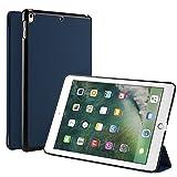 Apple iPad Pro 10.5ケース 【IVSO】【3色可選】オリジナルiPad Pro 10.5専用PUレザーカバー 三つ折 オートスリープ スタンド機能が付き  開閉式 超薄型 最軽量 全面保護型ーApple iPad Pro 10.5専用保護ケース(紺色)