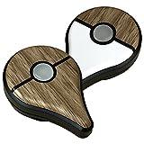 ポケモン GO PLUS 用 スキンシール カバー シール ケース 高級素材 側面対応 丈夫で長持ち 保護 木目調 ゼブラウッド 高級感のある手触り 切れ込みがなく 簡単に貼り付け可能