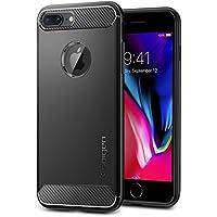 【Spigen】 スマホケース iPhone8 Plus ケース / iPhone7 Plus ケース 対応 TPU 耐衝撃 米軍MIL規格取得 ラギッド・アーマー 043CS20485 (ブラック)
