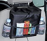 FakeFace 自動車 車内収納シート 飲み物 食事 保温保冷 車席後部 小物う収納 多機能 チャイルドシート カーアクセサリー 整理整頓 シートバッグ ブラック