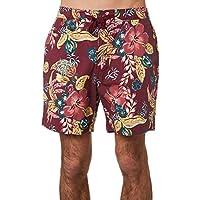 The Critical Slide Society Men's Utopia Mens Beach Short Cotton Spandex Red