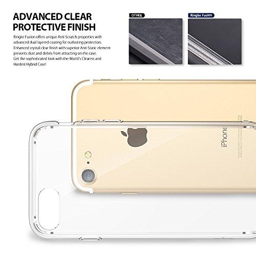 『【Ringke】iPhone 8 / iPhone 7 ケース 対応 コスパ最高 クリア 透明 落下防止 ストラップホール スマホケース [米軍MIL規格取得] TPU PC 二重構造 吸収耐衝撃カバー Qi充電対応 Fusion (Clear/クリア)』の8枚目の画像