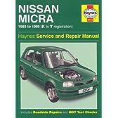 Nissan Micra (1993-99) Service and Repair Manual (Haynes Service and Repair Manuals)