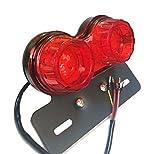 テールランプ ウィンカー ブレーキライト オールインワン バイク 汎用 DC12V 赤 レッド