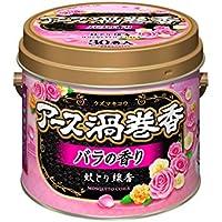 アース製薬 アース渦巻香 蚊取り線香 バラの香り 30巻缶入
