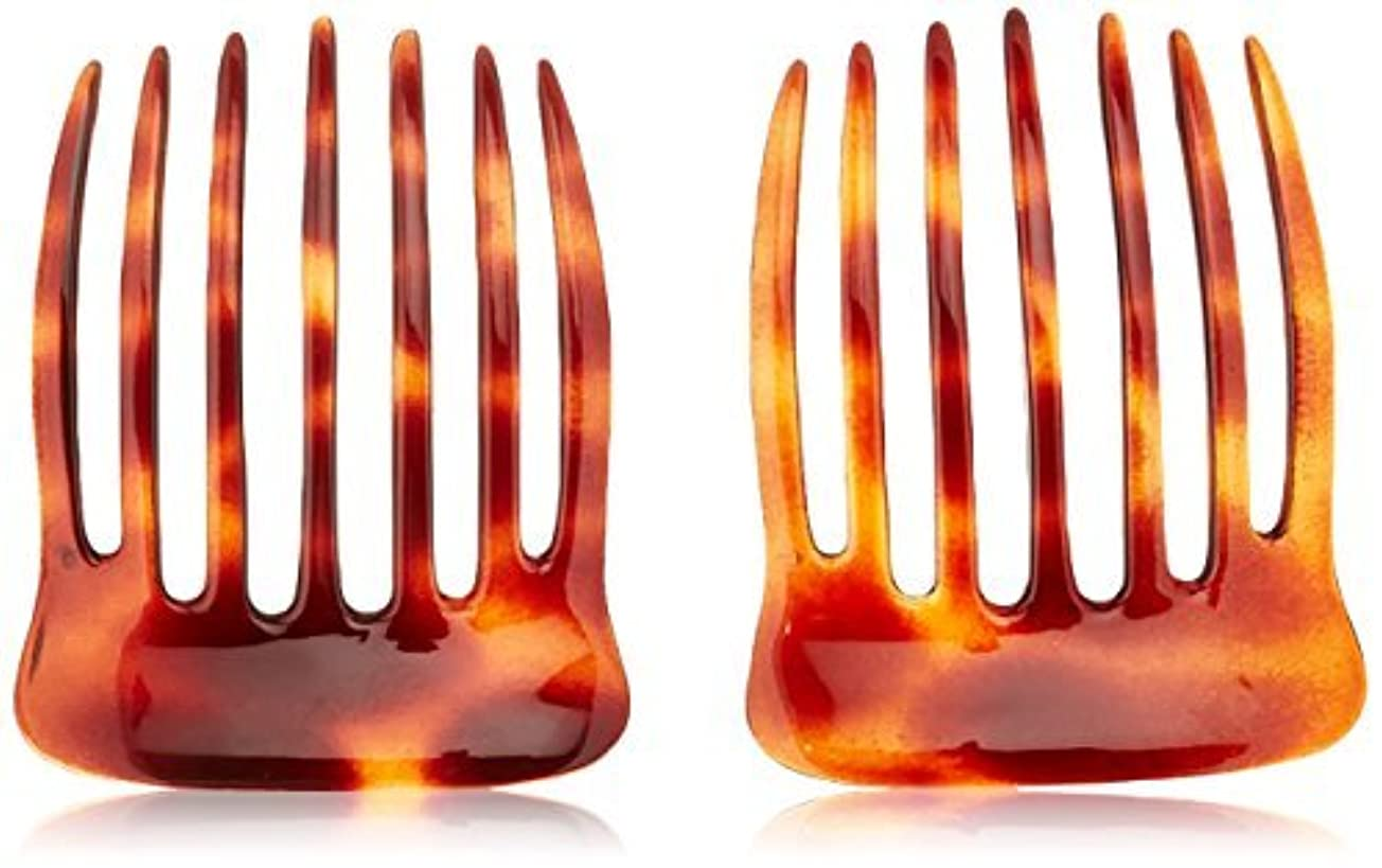 キルス小数傾向Caravan French Back Comb with Deep Teeth Tortoise Shell Pair.65 Ounce [並行輸入品]